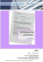 Heft 1 - Der Beiratsvertrag